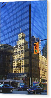 Vancouver Reflections 3 Wood Print by Randall Weidner