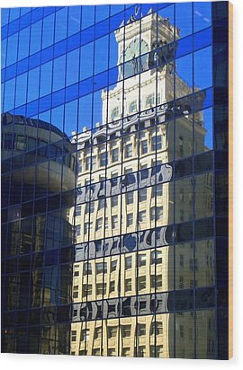 Vancouver Reflections 4 Wood Print by Randall Weidner