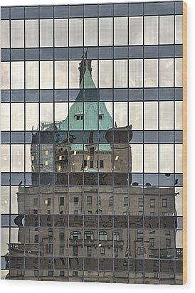 Vancouver Reflections Wood Print by Steven Richman