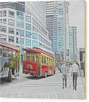 Vancouver Sightseeing Wood Print by Carol Cottrell