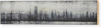 Vancouver Skyline Abstract 1 Wood Print
