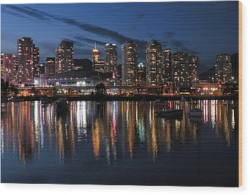 Vancouver Skyline Wood Print by Brian Chase