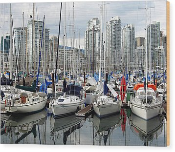 Vancouver Skyline Wood Print by Gerry Bates