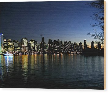 Vancouver Skyline Wood Print by Will Borden