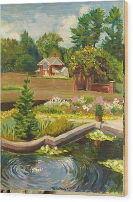 Vanderbilt Italian Garden Wood Print
