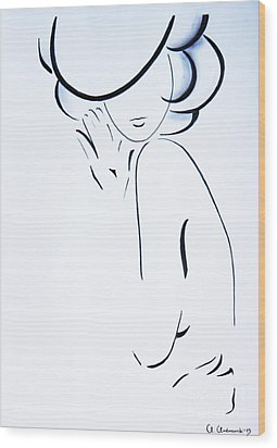 Vanessa Wood Print by Anna Androsovski