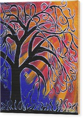 Vanessa Wood Print by Vicki Maheu