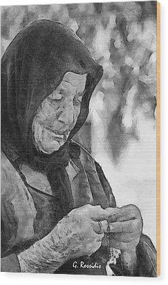 Vangelitsa Wood Print by George Rossidis