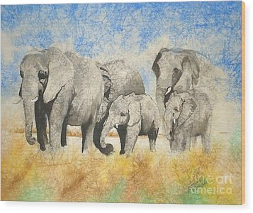 Vanishing Thunder Series - The Family  Wood Print by Suzanne Schaefer