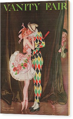 Vanity Fair Cover Featuring A Harlequin Wood Print by Frank X. Leyendecker