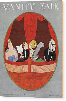 Vanity Fair Cover Featuring Two Couples Wood Print by A. H. Fish