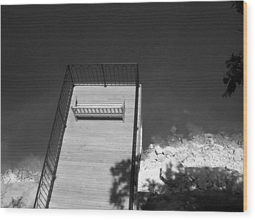 Vantage Point Bw Wood Print