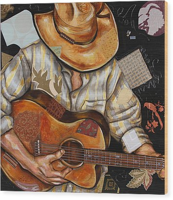 Vaquero De The Acoustic Guitar Wood Print