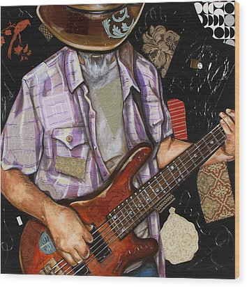 Vaquero De The Bass Guitar Wood Print