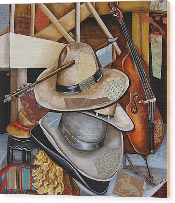 Vaquero De The Hats Wood Print