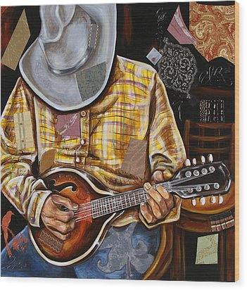 Vaquero De The Mandolin Wood Print