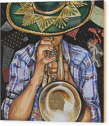 Vaquero De The Trumpet Wood Print