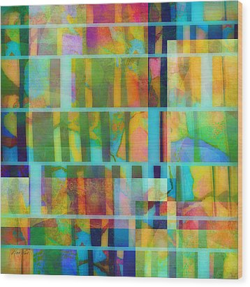 Variation On A Theme Abstract Art Wood Print by Ann Powell