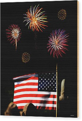 Variations On Old Glory No. 2 Wood Print by John Pagliuca