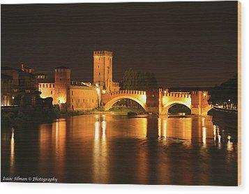 Varona Castel Vecchio Italy Wood Print by Isaac Silman