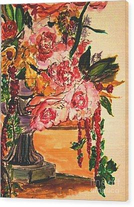 Wood Print featuring the painting Vartuhee by Helena Bebirian