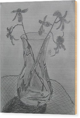 Vase Wood Print by AJ Brown