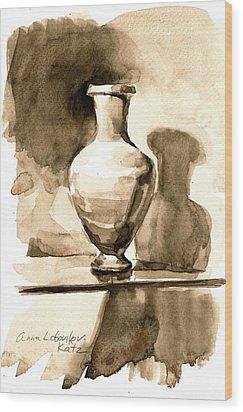 Vase Wood Print by Anna Lobovikov-Katz