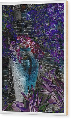 Wood Print featuring the photograph Vase by Athala Carole Bruckner