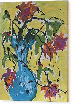 Vase Of Flowers Wood Print by Alison Caltrider