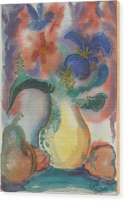 Vase Still Life 1 Wood Print