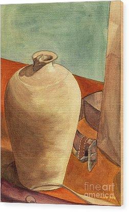 Vase Still Wood Print by Mukta Gupta