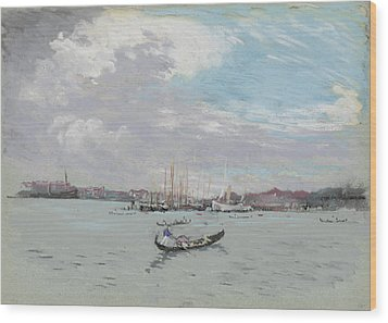 Vast Lagoon Outside Venice Circa 1901 Wood Print by Aged Pixel