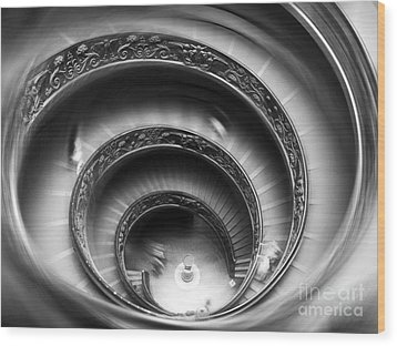 Vatican Stairs Wood Print by Sandro Rossi