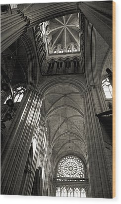 Vaults Of Rouen Cathedral Wood Print by RicardMN Photography