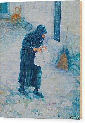 Forenza Vita Nonna Filomena In Blu Wood Print