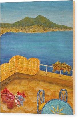 Veduta Di Vesuvio Wood Print by Pamela Allegretto