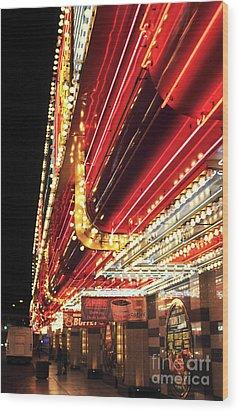 Vegas Neon Wood Print by John Rizzuto