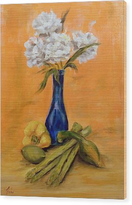 Vegetable Flower Still Life Wood Print