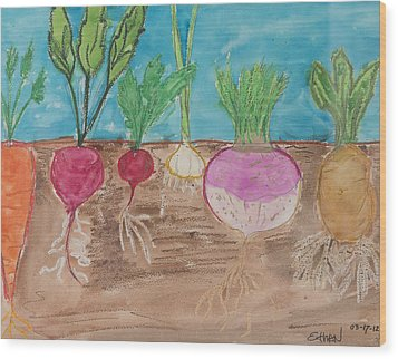 Vegetables Wood Print by Ethan Altshuler