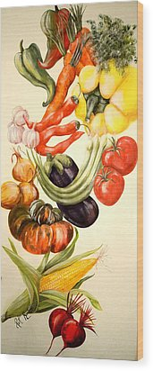 Vegetables No. 1 Wood Print