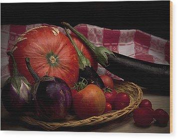 Vegetables Wood Print by Riccardo Livorni