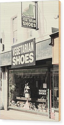 Vegetarian Shoes Wood Print