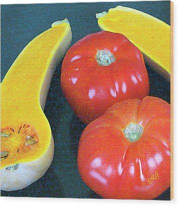 Veggies And Colors Wood Print by Ben and Raisa Gertsberg
