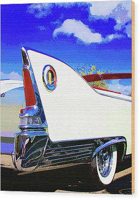 Vehicle Launch Palm Springs Wood Print by William Dey