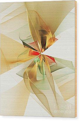 Veildance Series 1 Wood Print by Klara Acel