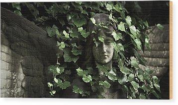 Veiled Angel Wood Print by Marc Huebner