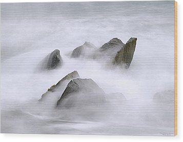 Velvet Surf Wood Print by Marty Saccone