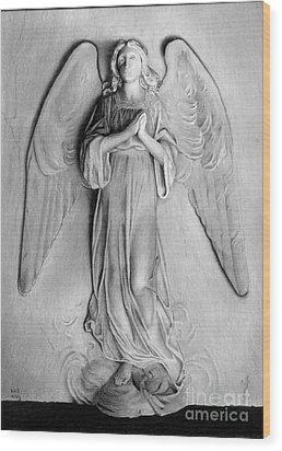 Venetian Angel Wood Print by Nicola Butt
