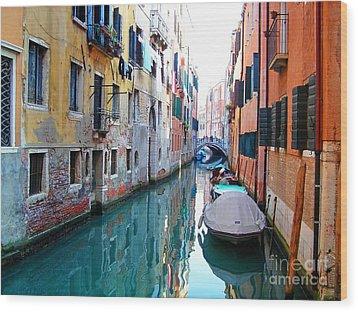 Venetian Calm Wood Print
