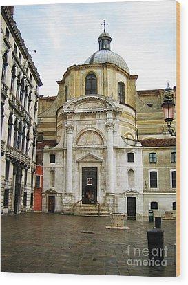 Venetian Church Wood Print by John Rizzuto